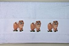 CHOW CHOW DOG LARGE HAND GUEST TOWEL COTTON WATERCOLOUR PRINT SANDRA COEN ARTIST