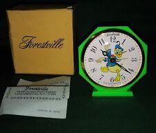 Donald Duck rare Forestville alarm clock 60's era Disney Productions MInt in Box