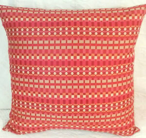 KNOLL Shades of RED ORANGE  Modern Mid Century Contemporary Sq Pillow