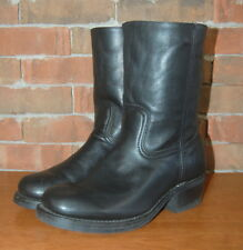 Mens Size 10 Frye Black Leather Engineer /  Motorcycle Boot