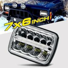 "Pair 7x6"" 5x7"" inch LED Headlight Sealed Headlamp For Toyota Nissan Pickup Truck"