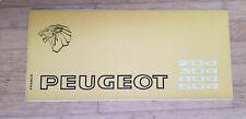 Peugeot Gamme 1972 - Dépliant Brochure (Modèles 204 304 404 504)