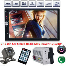 1x 7inch 2DIN Car MP5 Player Bluetooth Touch Screen Stereo Radio HD+ Camera US