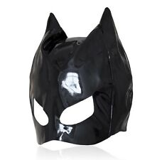 Dungeon Party PVC Wet Look Cat Ear Half Head Hood Mask Blindfold