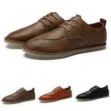 Size Plus Men Leisure Faux Leather Shoes Driving Moccasins Pumps Lace Up Comfy L