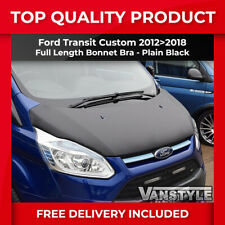 FORD TRANSIT CUSTOM FULL BONNET BRA TOP QUALITY FIT PROTECTOR COVER PLAIN BLACK