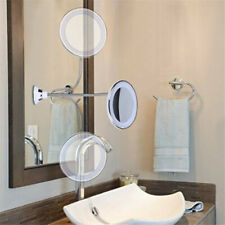10X 360 Rotary Magnifying LED Lighted Makeup Mirror with Flexible Gooseneck