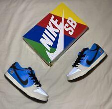 """Nike SB Dunk Low """"Instant Skateboards"""" (Size 11) Strangelove Sean Cliver Blue 3M"""