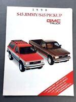 1990 GMC Truck S-15 S15 Jimmy and Pickup Original Sales Brochure Catalog