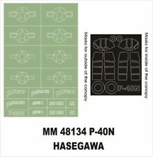 Montex Maxi Mask 1:48 P-40 N for Hasegawa JT 88 Spraying Stencil #MM48134