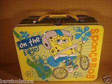 SPONGE BOB On The Edge Tin Lunch Box Nickelodeon