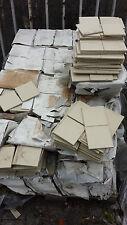 Spaltklinker, Spaltplatten 63qm für 369 Euro, Restposten creme unglasiert 12x12