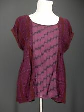 AMERICAN EAGLE Top M Purple Animal Print Lizard Alligator Oversized OUTFITTERS