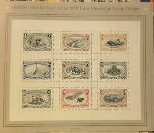 1998 Bi-Color Re-issue of 1898 Trans-Mississippi Stamp Scott # 3209 US POSTAGE