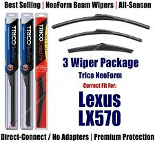 3-Pack Wipers Front & Rear NeoForm - fit 2008+ Lexus LX570 - 16240/220/12A