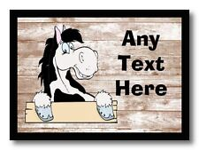 Piebald Horse Shabby Personalised Computer Mouse Mat