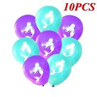 10PCS Cartoon Mermaid Balloons Wedding Birthday Party Baby Shower Decorations