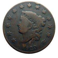 "Large cent/penny 1829 rare ""five wheelspokes"" reverse"