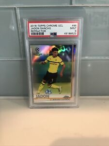 2018 Jadon Sancho PSA 9 Topps Chrome Refractor Rookie Rc #86 *NICE* Invest NOW