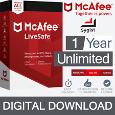 McAfee® LiveSafe™ 2019 | Internet Antivirus PC/Mac | 1 Year | Unlimited Devices