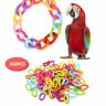100 pcs C Chain Hooks Toy Parrot Bird Foot Links Plastic DIY Mixed Color