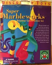 Discovery Toys Super Marbleworks Raceway Construction Set  48 Pieces +10 Marbles