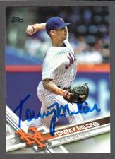 2017 TOPPS US 85  Tommy Milone  NEW YORK METS  SIGNED AUTOGRAPH AUTO COA