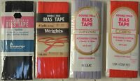 """Wrights Bias Tape Double Fold - 1/4"""" w x 4yds - 6 great colors!"""