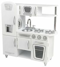 KidKraft Vintage Wooden Play Kitchen in White, Play Set Kids Cooking Stove Oven