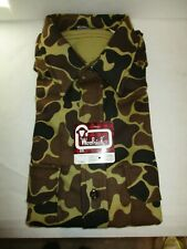 Vintage Woolrich Chamois Flannel - Brown / Duck Camo- Size Large
