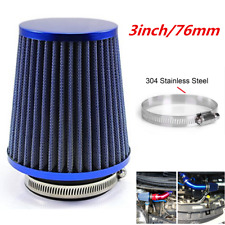 3 inch 76mm Air Filter Clean Intake For Car High Flow Short RAM/COLD Round Cone
