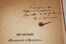 MONT SAINT MICHEL MONUMENTAL HISTORIQUE LE HERICHER ENVOI 1846 TOSTAIN NORMANDIE