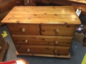 Solid Pine 2 + 2 Chest Of Drawers