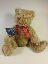 "Hallmark Teddy Tennial 100th Anniversary 12"" Bear Gold Crown Plush Tag Jointed"