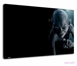 Gollum Fictional Character From Lord Of The Rings Canvas Wall Art Picture Print