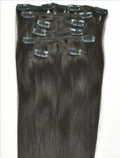 "16""18""20""22""24""26""28"" 120g Clip In Remy Human Hair Extensions 70g 80g 100g US"