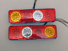 PAIR 12V LED REAR TAIL LIGHTS LAMPS TRAILER CARAVAN CAMPER VAN TRUCK 36 LEDS