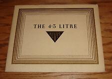 Original 1937 Alvis 4.3 Litre Deluxe Sales Brochure 37 Saloon