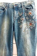 Summer Jeans Junior Size 5 Embellished Distressed Floral Joe Boxer