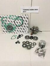 2003-2017 Yamaha YZ250 YZ250X YZ-250 Complete Engine Rebuild Kit Piston & Crank