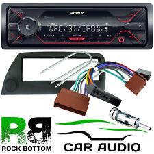 Ford KA 1996-2008 MK1 SONY Bluetooth Mechless USB Car Stereo & BLACK Fascia Kit