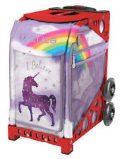 Zuca Bag Unicorn 2 Insert & Red Frame w/Flashing Wheels - Free Seat Cushion