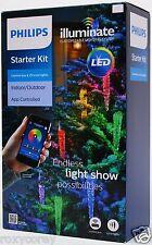 Philips LED Illuminate Starter Kit 25 Icicle String Lights & Control Box NIB