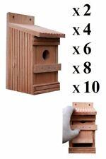 Vogelhaus aus massiv Holz,Nistkasten super Set Typ 11-O, Nistkästen für Vögel