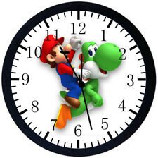 Super Mario Yoshi Black Frame Wall Clock W352