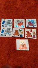 Vintage Hambly Foil and Mod Sparkly Bears Stickers