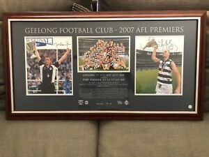 Geelong Cats 2007 AFL Premiership Captain/Coach Signed and Framed Lithograph