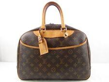 US seller Authentic LOUIS VUITTON MONOGRAM DEAUVILLE HAND BAG LV PURSE Good