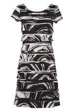 Scoop Neck Skater Casual Striped Dresses for Women