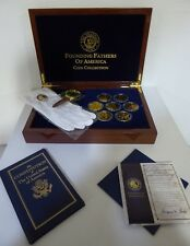 THE FOUNDING FATHERS OF AMERICA MEDALLION COLLECTION - FRANKLIN MINT $49.99